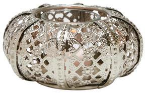 VÄRMELJUSHÅLLARE - silver, Lifestyle, metall/glas (12,5/5,5cm) - Ambia Home