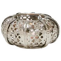 TEELICHTHALTER - Silberfarben, LIFESTYLE, Glas/Metall (12,5/5,5cm) - Ambia Home