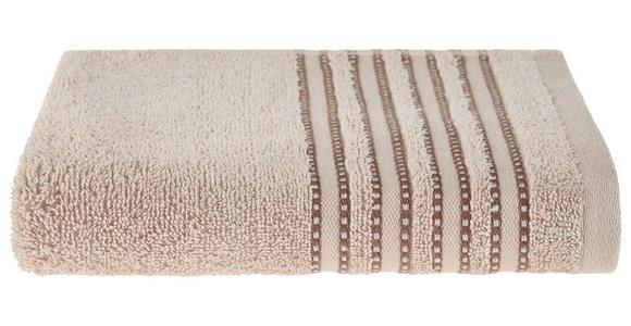 Handtuch Anna - Beige, MODERN, Textil (50/90cm) - Luca Bessoni