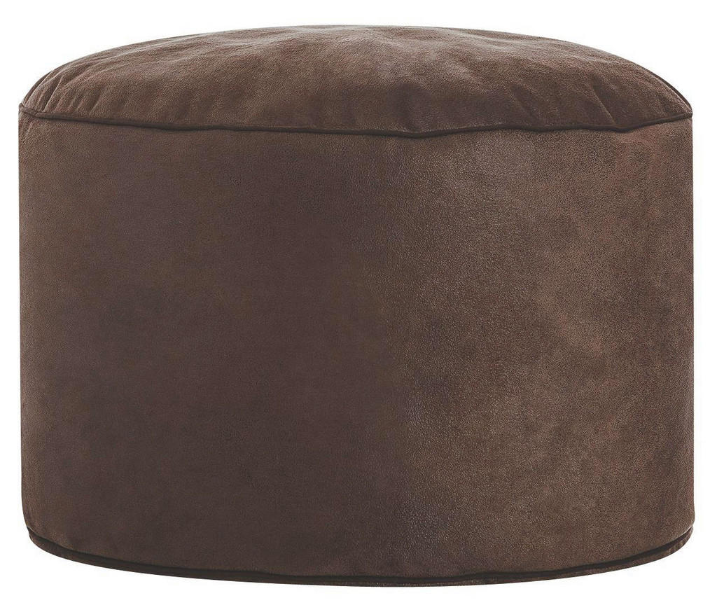 CARRYHOME POUF Lederlook Braun