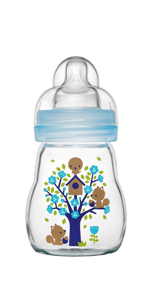 WEITHALSFLASCHE 170 ml - Blau, Basics, Glas/Kunststoff (7,1/17,1/7,1cm) - MAM