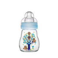 WEITHALSFLASCHE 170 ml - Blau, Glas/Kunststoff (7,1/17,1/7,1cm) - MAM