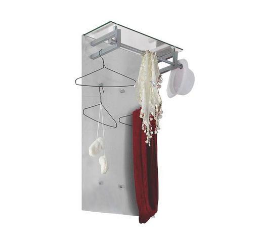 GARDEROBENPANEEL lackiert Weiß  - Weiß, Design, Glas/Metall (59/112/30cm) - Cassando