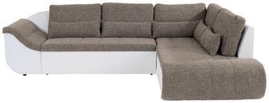 Wohnlandschaft in L-Form Carisma 300x210 cm - Schwarz/Braun, MODERN, Textil (300/210cm) - Ombra