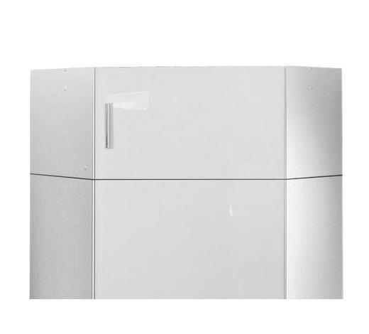 AUFSATZSCHRANK - Chromfarben/Weiß, Design, Holzwerkstoff/Kunststoff (80/40/80cm) - Xora