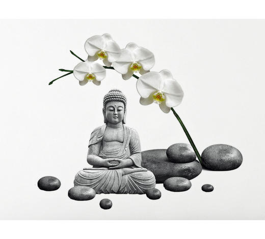 Zen WANDTATTOO  - Multicolor, Basics, Kunststoff (50/70/0,10cm)