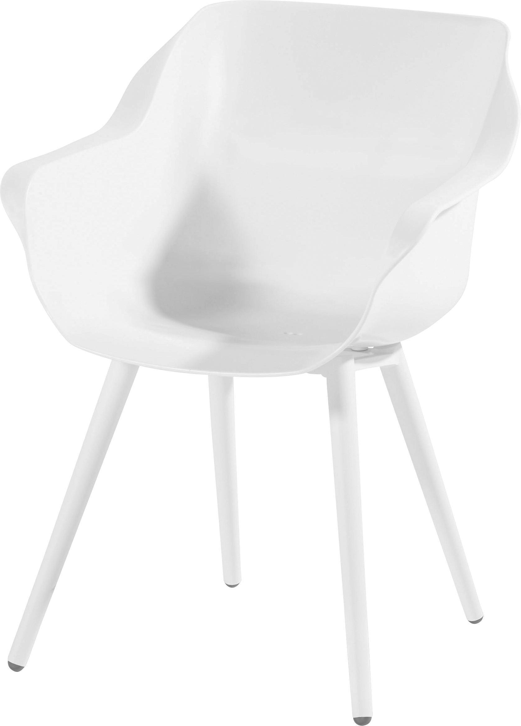 GARTENSTUHL Weiß   Weiß, Design, Kunststoff/Metall (59/62/84cm