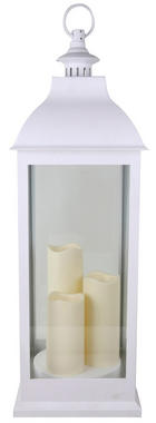 LYKTA - vit, Lifestyle, glas/plast (24/71/24cm) - Ambia Home