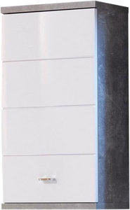 VISEĆI ORMAR - Boje hroma/Siva, Dizajnerski, Plastika/Pločasti materijal (38/71/23cm) - Xora