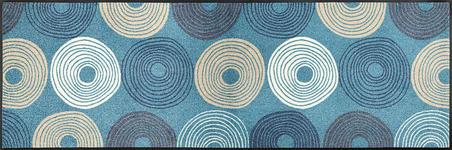FUßMATTE 60/180 cm Graphik Hellblau - Hellblau, Kunststoff/Textil (60/180cm) - Esposa