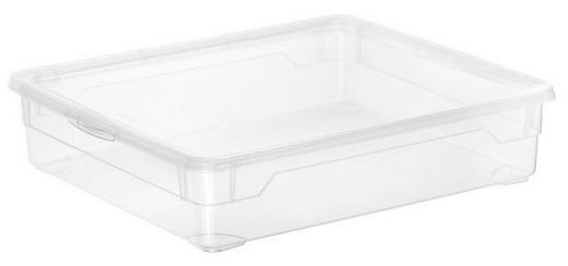 BOX MIT DECKEL - Transparent, Basics, Kunststoff (0cm)