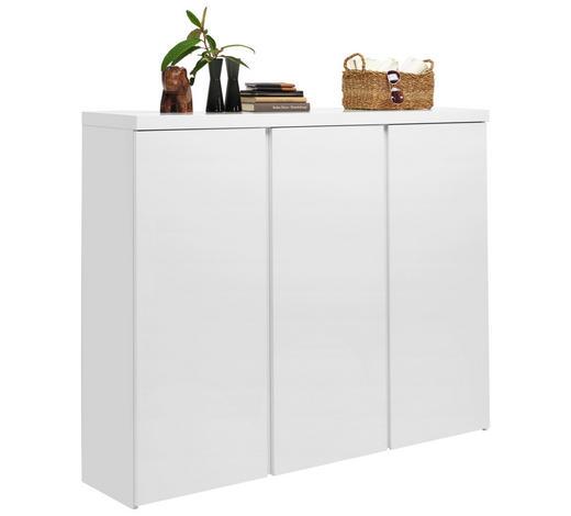 SCHUHSCHRANK 144/120/35 cm - Weiß, Design, Holzwerkstoff (144/120/35cm) - Xora