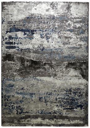 VÄVD MATTA - blå/silver, Design, plast (160/230cm) - Novel