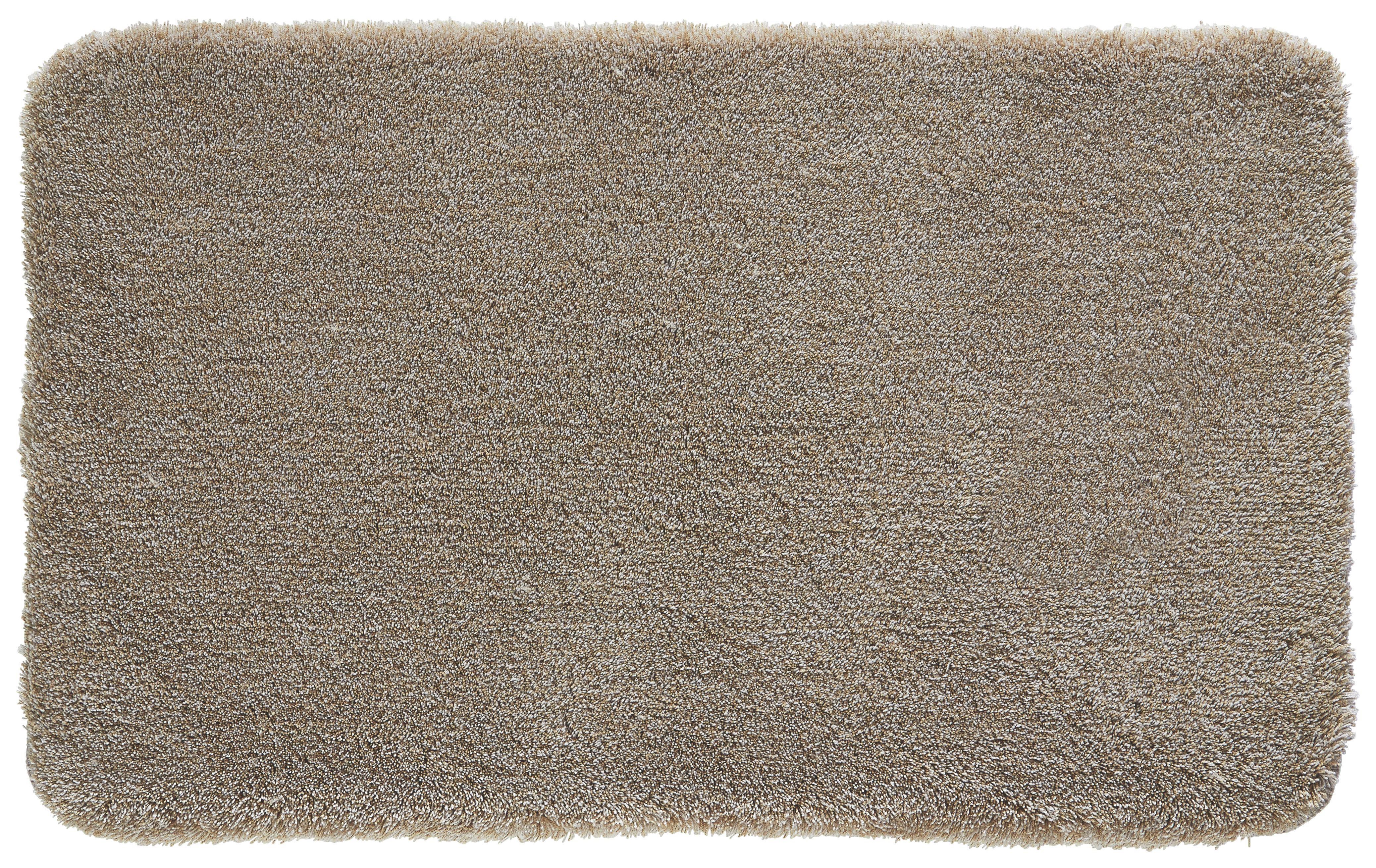 BADTEPPICH  Taupe  60/100 cm - Taupe, Kunststoff/Textil (60/100cm) - KLEINE WOLKE