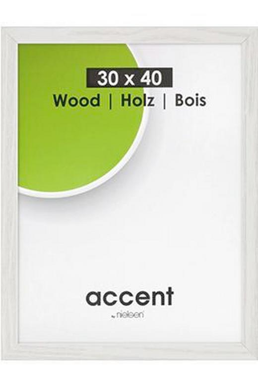 BILDERRAHMEN in Weiß - Weiß, Basics, Holz (18,0/24,0/2,1cm) - Nielsen