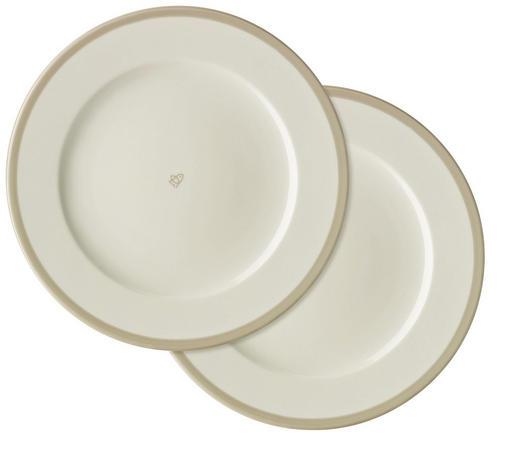 SPEISETELLERSET Keramik Porzellan 2-teilig - Grau, Basics, Keramik (28cm)