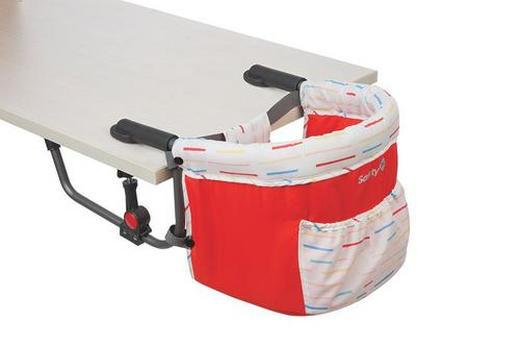 TISCHSITZ - Rot/Weiß, Basics, Kunststoff/Textil (55,5/37/27,5cm) - Safety 1st