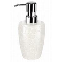 Seifenspender - Weiß, Design, Keramik (7.5/16cm) - Spirella