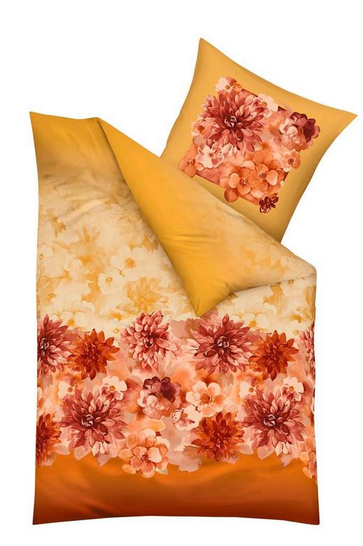 BETTWÄSCHE DELIA 140/200 cm - Gelb/Rot, LIFESTYLE, Textil (140/200cm) - KAEPPEL