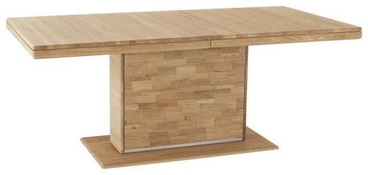 ESSTISCH Wildeiche vollmassiv rechteckig Eichefarben - Eichefarben, Design, Holz/Metall (190/95/76cm) - Valdera