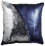 ZIERKISSEN 40/40 cm  - Blau/Silberfarben, Design, Kunststoff/Textil (40/40cm) - Novel