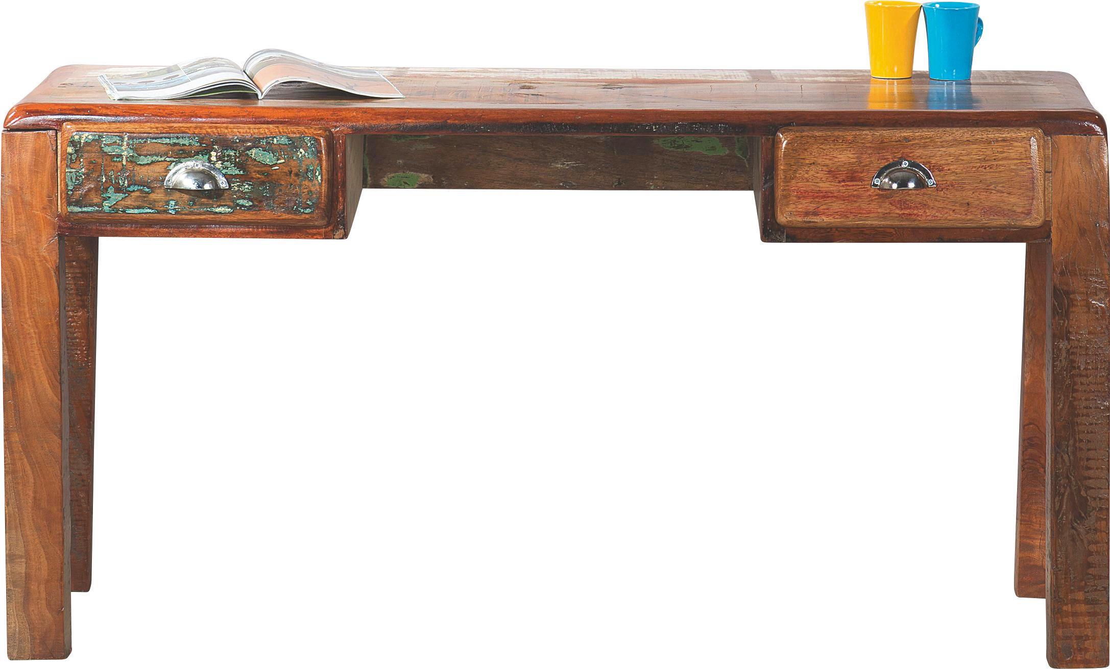 Schreibtisch design holz  SCHREIBTISCH Altholz massiv Multicolor online kaufen ➤ XXXLShop