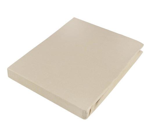 PROSTĚRADLO NAPÍNACÍ, žerzej, 180/200 cm - pískové barvy, Basics, textil (180/200cm) - Novel