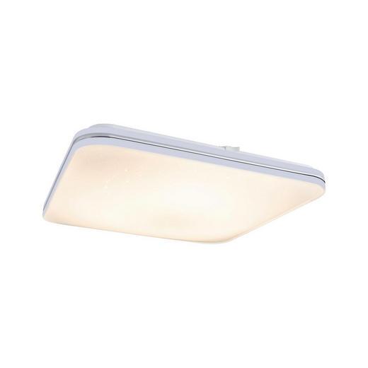 LED-DECKENLEUCHTE - Weiß, Design, Kunststoff/Metall (43/7/43cm)