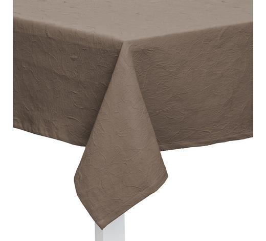TISCHDECKE Textil Jacquard Taupe 135/220 cm  - Taupe, KONVENTIONELL, Textil (135/220cm)