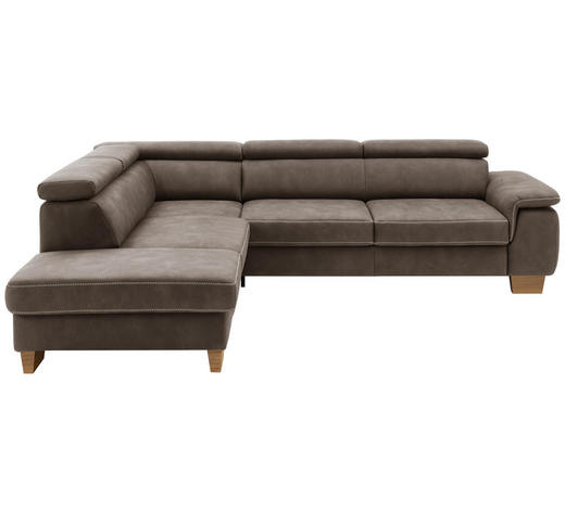WOHNLANDSCHAFT in Textil Braun  - Eichefarben/Beige, Natur, Holz/Textil (226/273cm) - Beldomo System