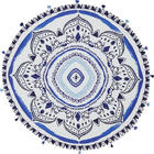 STRANDTUCH - Blau/Weiß, Design, Textil (150cm) - Esposa