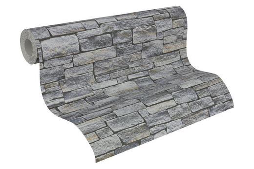 Vliestapete in steinopktik 10,05 m - Hellbraun/Anthrazit, LIFESTYLE, Textil (53/1005cm)