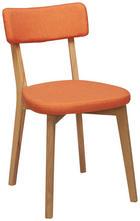 STUHL in Holz, Textil Eichefarben, Orange - Eichefarben/Orange, Design, Holz/Textil (44/82/55cm) - Carryhome