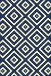WEBTEPPICH  120/170 cm  Blau, Weiß - Blau/Weiß, Design, Textil (120/170cm) - Boxxx