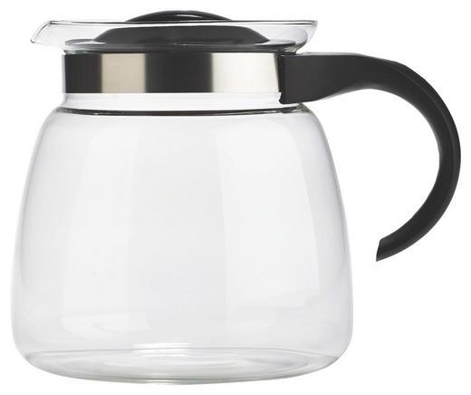 TEEKANNE - Klar/Schwarz, Basics, Glas/Kunststoff (2l) - HOMEWARE