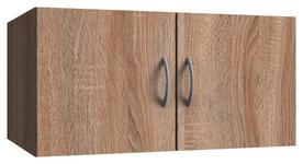 AUFSATZSCHRANK in Eichefarben   - Eichefarben/Alufarben, KONVENTIONELL, Holzwerkstoff/Kunststoff (70/40/40cm) - Xora