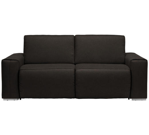 SCHLAFSOFA in Textil Braun  - Chromfarben/Braun, Design, Textil/Metall (210/90/102cm) - Dieter Knoll