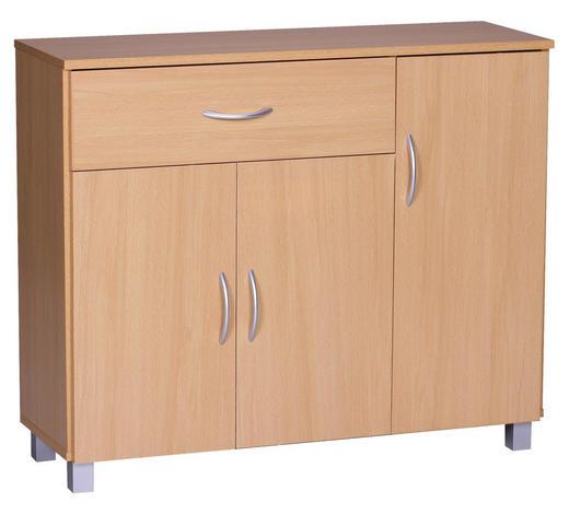 SIDEBOARD foliert Buchefarben  - Buchefarben/Grau, KONVENTIONELL, Holzwerkstoff/Kunststoff (90/75/30cm) - Carryhome