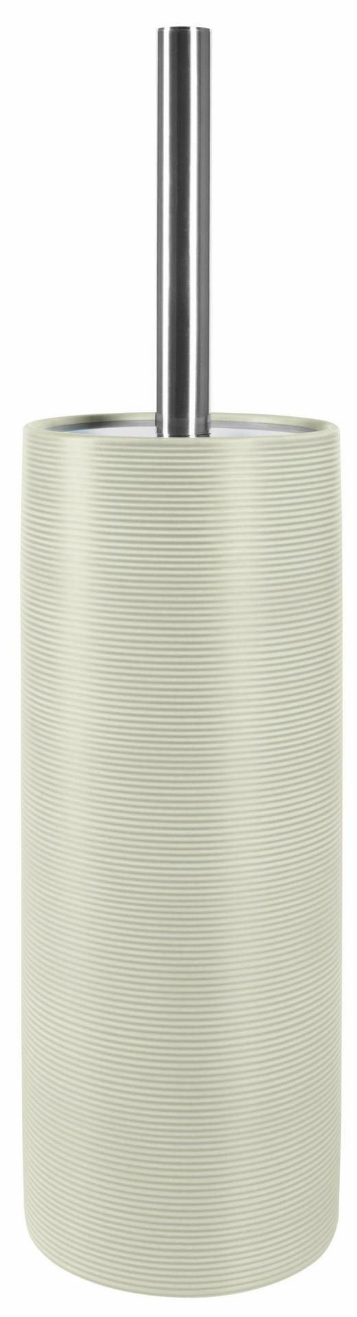 WC-BÜRSTENGARNITUR Stein - Chromfarben/Grau, Basics, Kunststoff/Stein (11/41,5/11cm) - Spirella