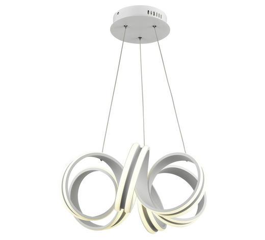 LED-HÄNGELEUCHTE - Silberfarben, Design, Kunststoff/Metall (49cm) - Novel