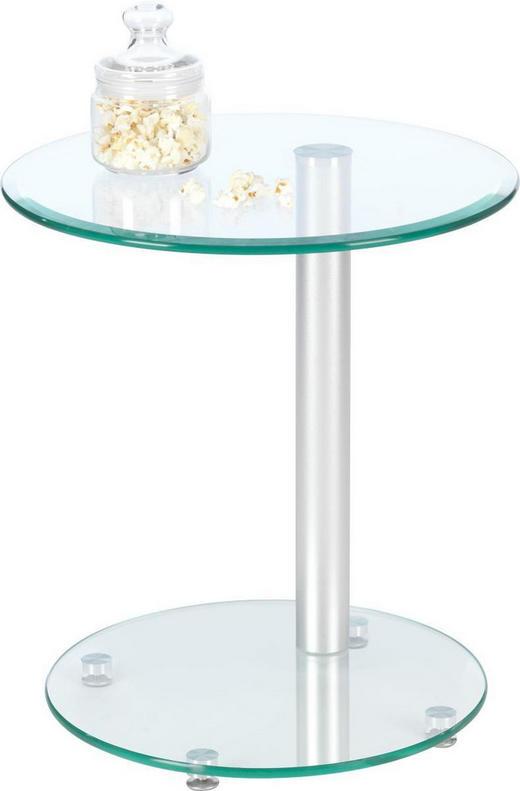 BEISTELLTISCH Klar - Klar, Design, Glas/Metall (45/50/45cm)