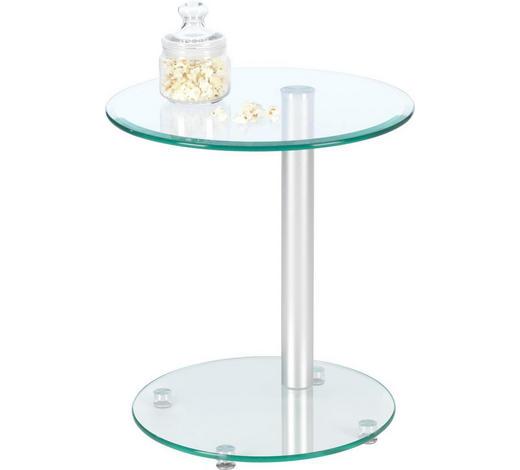 BEISTELLTISCH in Klar  - Klar, Design, Glas/Metall (45/50/45cm)