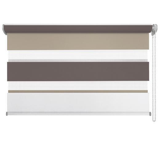 DUOROLLO  halbtransparent   120/160 cm   - Braun/Weiß, Basics, Textil (120/160cm)