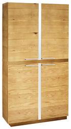 AKTENSCHRANK Wildeiche furniert Chromfarben, Eichefarben - Chromfarben/Eichefarben, Design, Holz/Holzwerkstoff (105/196/40cm)