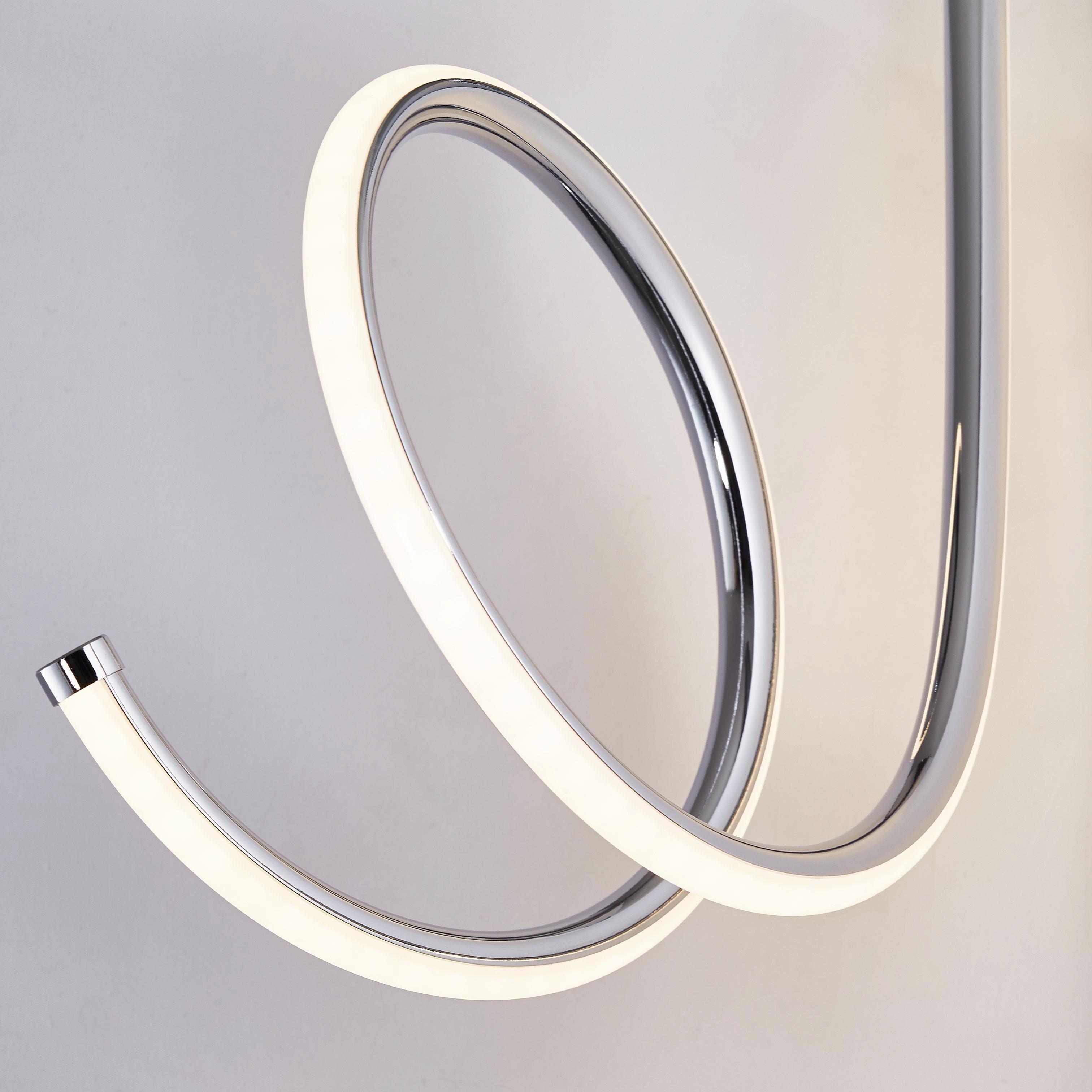 LED-DECKENLEUCHTE - Chromfarben, Design, Kunststoff/Metall (56/35cm) - AMBIENTE