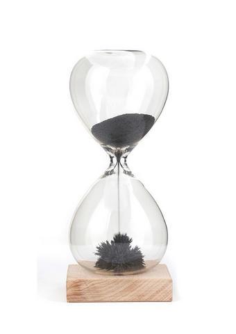 PEŠČENA URA MAGNETIC, 16,5 CM  prozorna  - prozorna, Konvencionalno, steklo/les (16,5/7/7cm) - Kikkerland