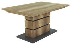 ESSTISCH in Holzwerkstoff 140/90/75 cm   - Eichefarben/Anthrazit, MODERN, Holzwerkstoff (140/90/75cm) - Carryhome