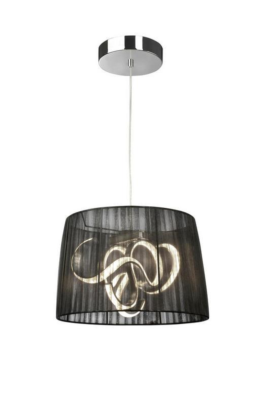 LED-HÄNGELEUCHTE - Schwarz, Design, Textil/Metall (38/150cm)