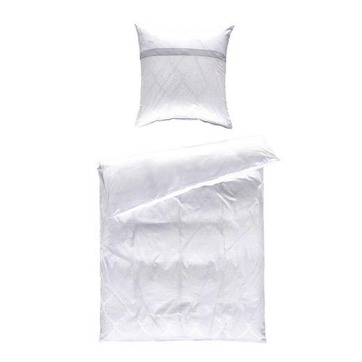 BETTWÄSCHE Jacquard Weiß 135/200 cm - Weiß, Design, Textil (135/200cm) - Fleuresse
