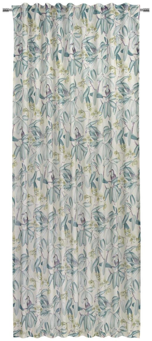 KOMBIVORHANG  transparent  140/245 cm - Blau/Grün, Basics, Textil (140/245cm) - Esposa